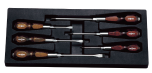Nepros Wood Grip Screwdriver Set, NTD306