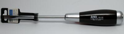 Anex Wood Grip Screwdriver, #180 - 8x150 Flat tip