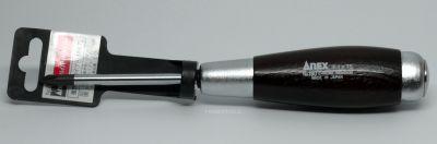 Anex Wood Grip Scredriver, #180 +1x75 Crosstip
