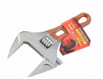 Fujiya Short Adjustable Wrench, FLS-43G