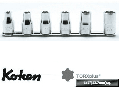 Koken 1/2dr. Torx Plus Socket Set, RS4425/6-EPL